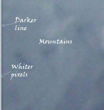 Screenshot showing a line running down Stangl's summit photo